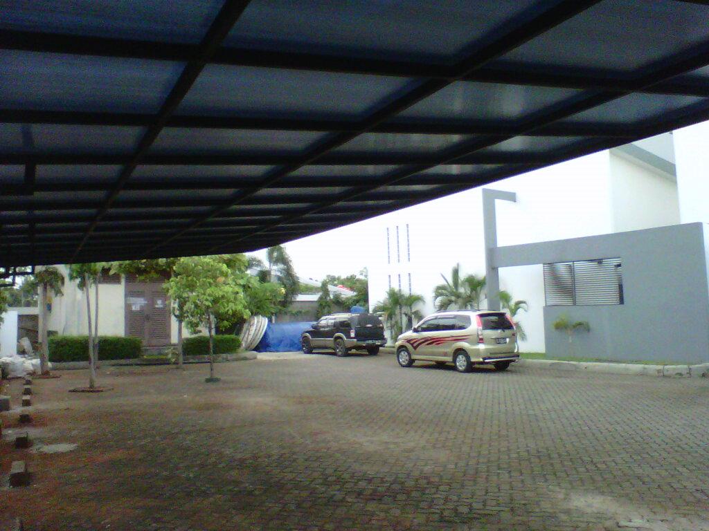 foto setelah jadi canopy carport tanpa  tiang  depan