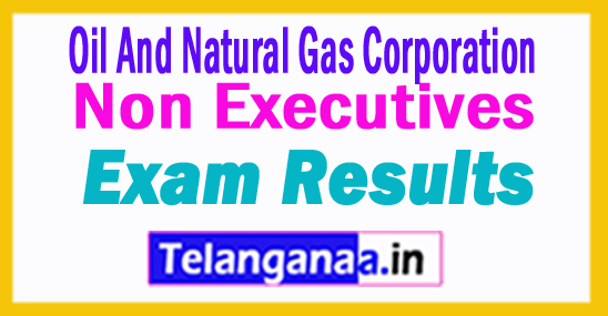 ONGC Non Executives Result 2018