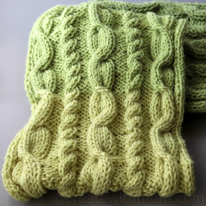 Create With Mom: Cable Stitch Knit Scarf