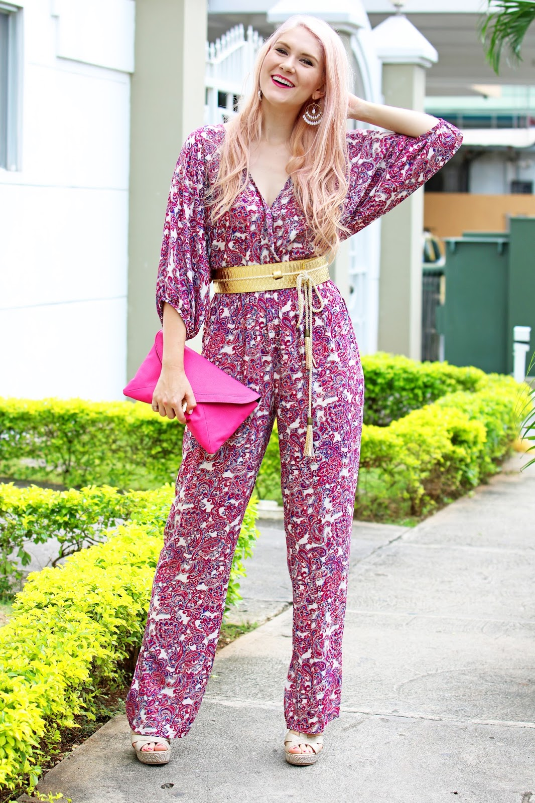 Pretty jumpsuit outfit for Spring or Summer