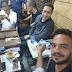 علاء مبارك يلعب الطاولة فى امبابة