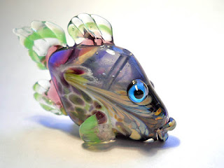 Isinglass Desgin handmade glass fish bead https://www.etsy.com/listing/593000089/purple-glass-bead-fish-pendant-necklace?