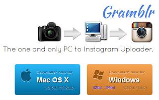 Upload toto atau gambar ke instagram menggunakan gramblr