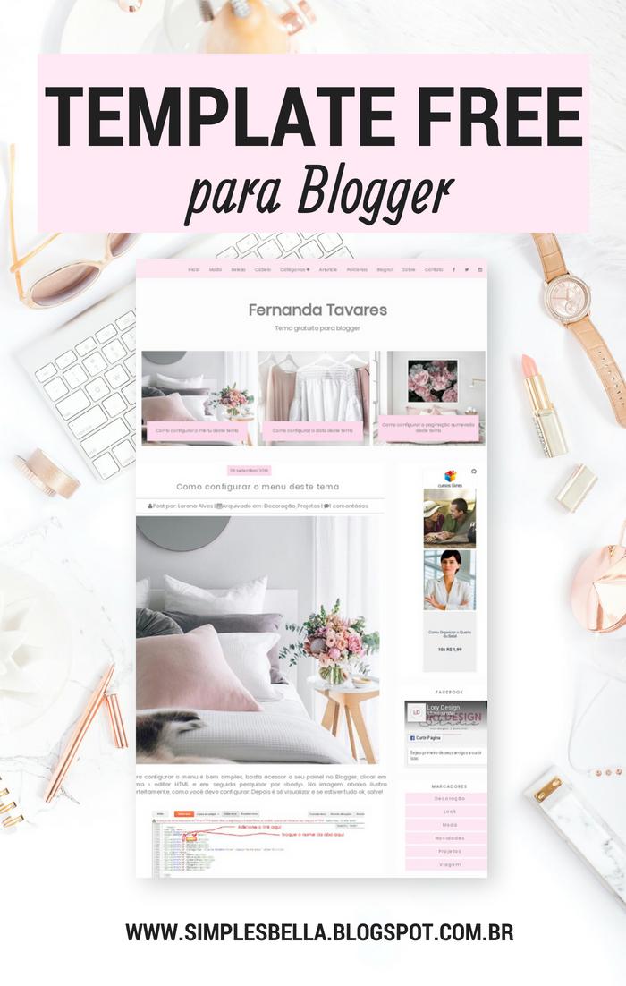 Template Rosê Free para Blogger