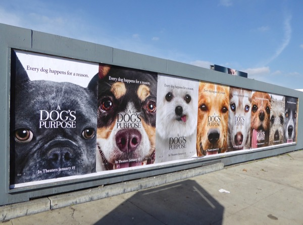 Dogs Purpose film street posters