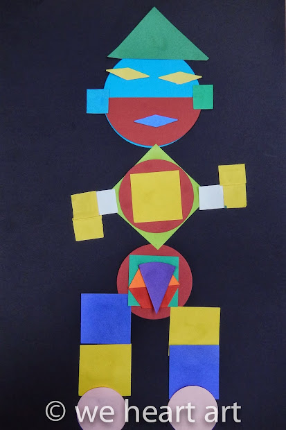 Geometric Shapes Art Monsters