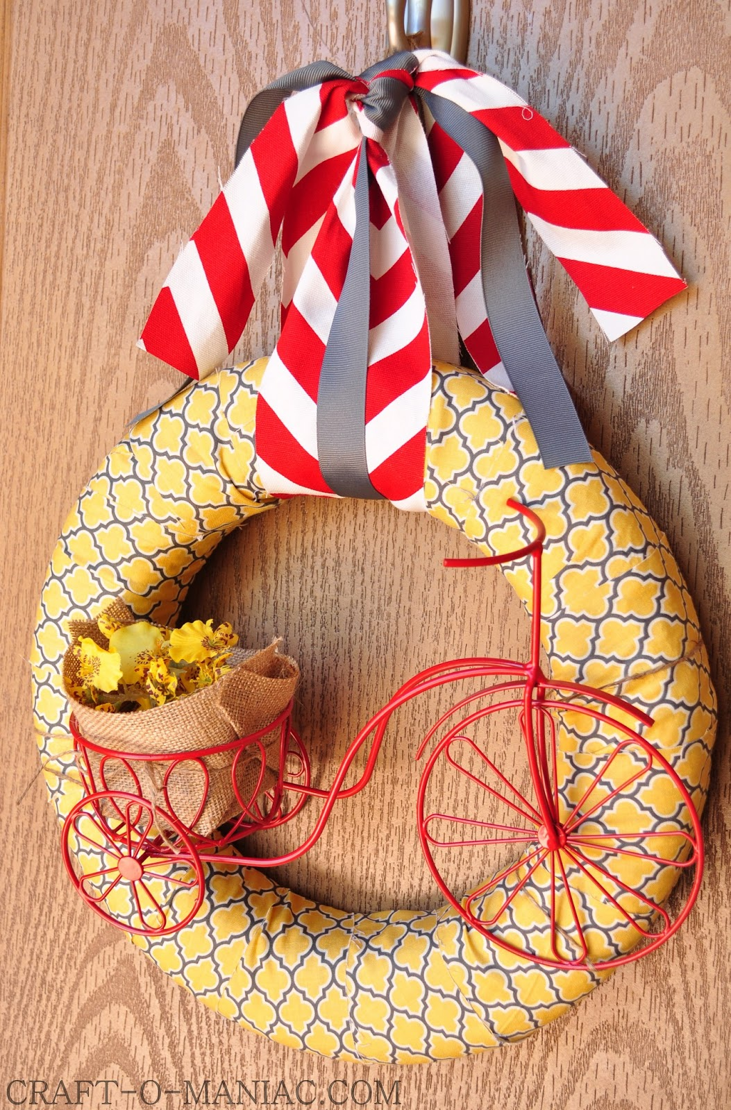 Crafty Homemade Christmas Gifts: DIY Summer Bicycle Wreath