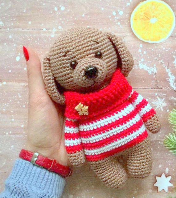 Amvabe Crochet Dog In Sweater Free Crochet Pattern