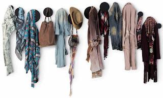 Diseño de percheros para la ropa
