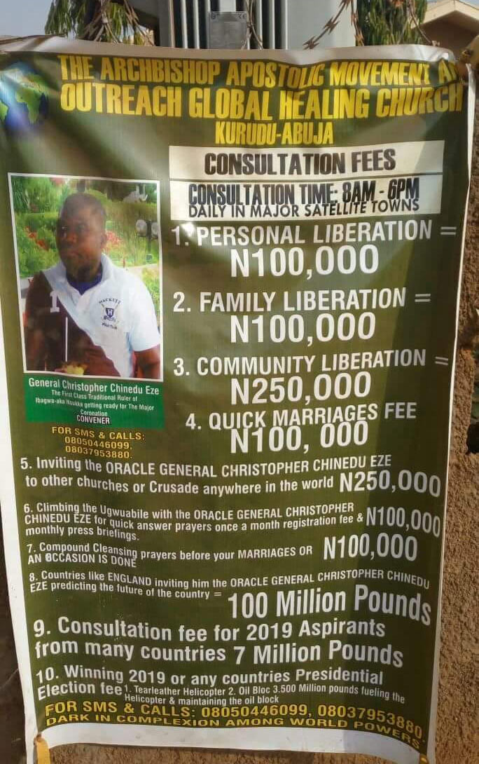 Check out the Abuja church banner that got people talking