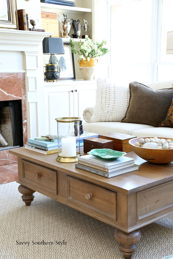 Savvy Southern Style How I Styled My Winter Coffee Table