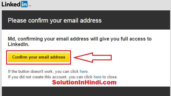 linkedin account emailverification