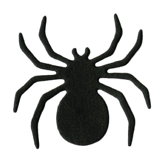 Easy spider stencil design for pumpkin carving