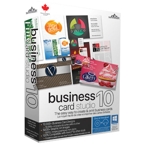 Summitsoft business card studio deluxe 10 v502 portable putra business card studio deluxe create a professional business card in 3 easy steps it only takes a few steps to create a great looking business card 1 reheart Choice Image