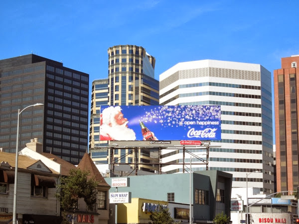 Coca-Cola Christmas santa 2013 billboard