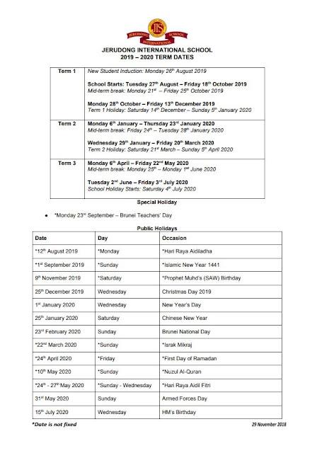 Calendario Serie B 2020 15.Brunei Hive August 2019