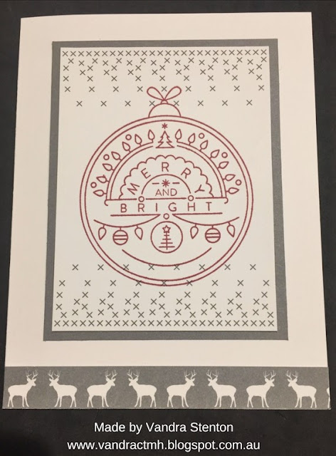 #CTMHSilverandGold, Silver, Gold, gold foil, Christmas, S1710, Stamp of the Month, bauble, trees, wreath, banner, reindeer, hearts, shimmer trim, shimmer Gems, pearls, Vandra