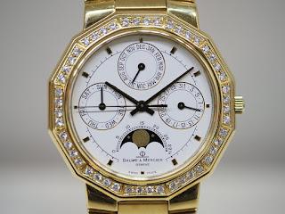 古い腕時計を鑑定しお買い取り致します ボーム&メルシエのリビエラを高価買取しました