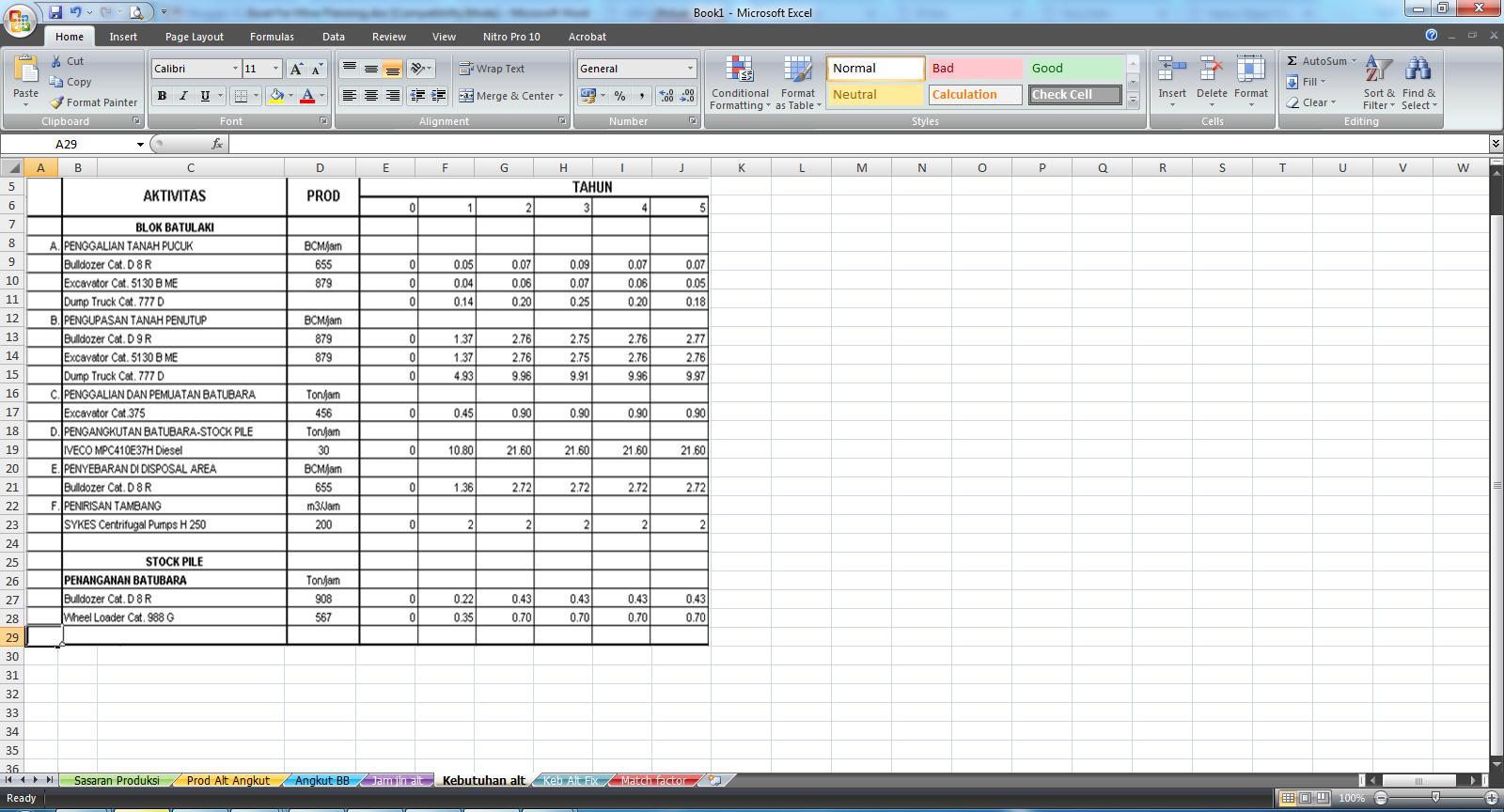 Tutorial Excel