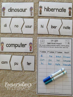 RTI and Literacy Center Activities for Open Syllables