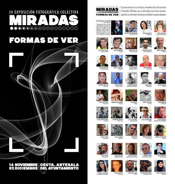 Folleto III Exposición Fotográifca Colectiva Miradas - Formas de ver