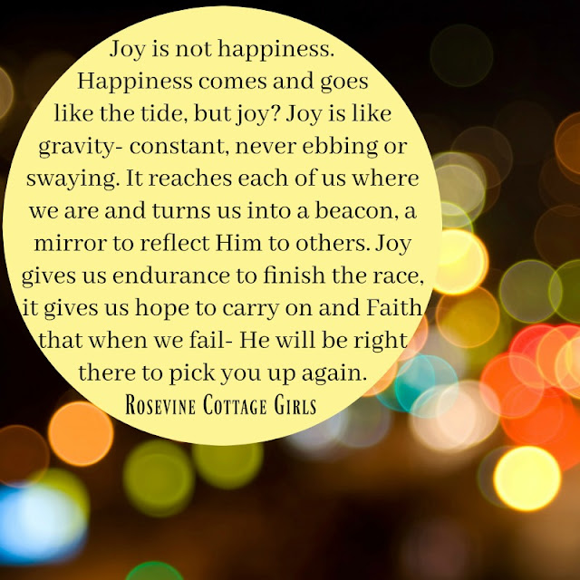 Faith or Joy, What is happiness, Happiness and joy, by Rosevine Cottage Girls