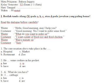 Soal-Ulangan-Ujian-Bahasa-inggris-kelas-6-Semester-1-UAS-Bahasa-inggris-kelas-6-SD