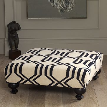 Tulip and Turnip: DIY: Upholstered Ottoman/Coffee Table