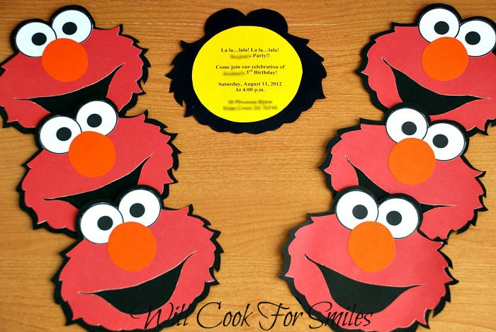 Elmo Birthday Invitations Gluenglitter