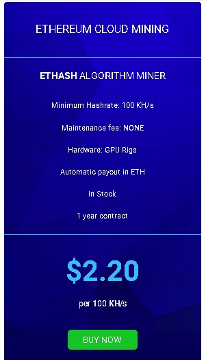 #2. Cloud Mining Ethereum Kontrak 12 bulan