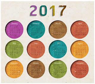 2017カレンダー無料テンプレート8