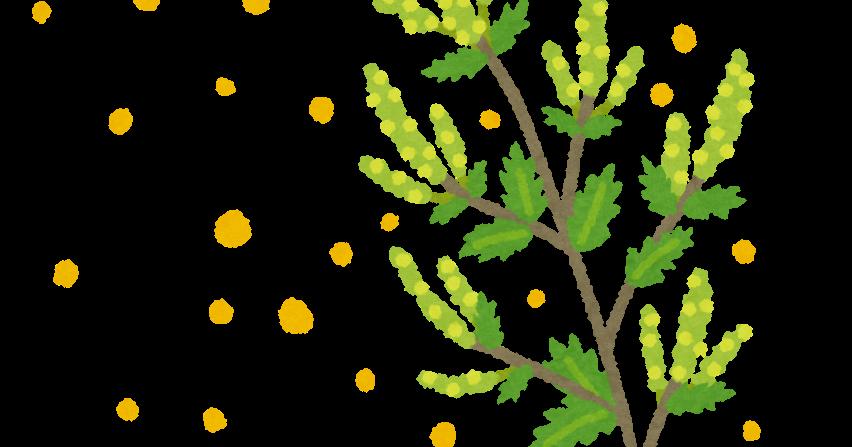 花粉を出すブタクサのイラスト | かわいいフリー素材集 いらすとや