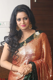 Udaya Bhanu lookssizzling in a Saree Choli at Gautam Nanda music launchi ~ Exclusive Celebrities Galleries 062.JPG