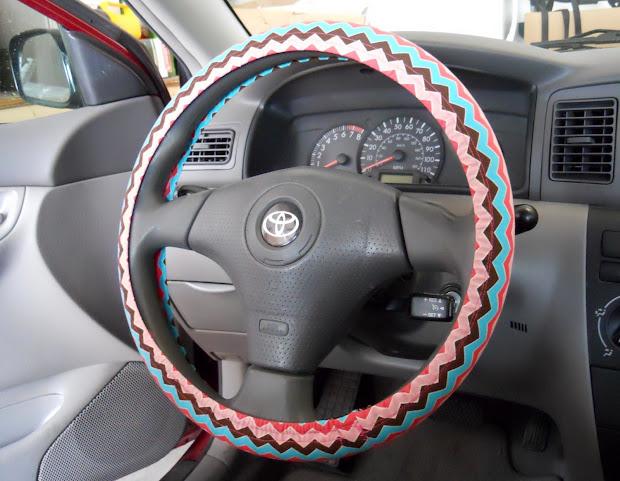 Corner Window Crafts Diy Steering Wheel Cover