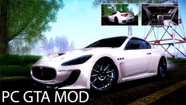 Free Download 2009 Maserati GranTurismo MC V1.0 Mod for GTA San Andreas