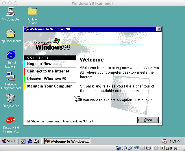 msn windows 98