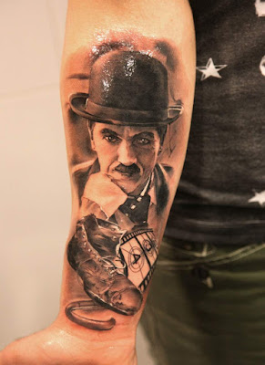 Tatuaje de Charles Chaplin