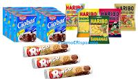 Logo Ringo, Haribo, Ciobar: decine di confezioni e buste scontate anche fino al 59%!