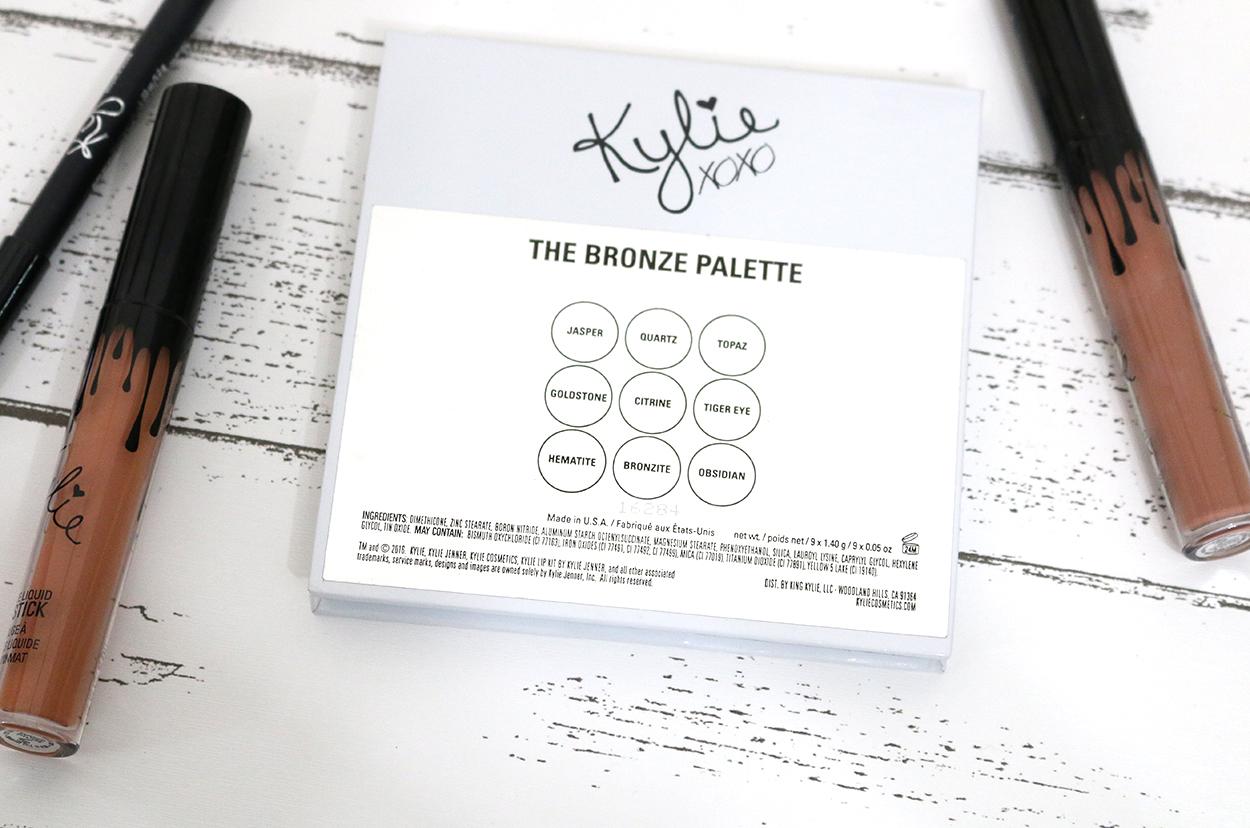 kylie cosmetics, kyshadow palette, kyshadow bronze palette, kyshadow bronze palette swatches