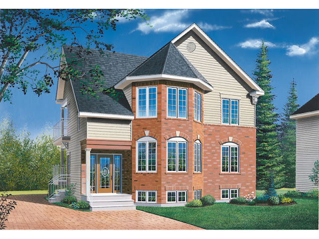 Two Family Duplex Home Design Two Family Duplex Home Design 032D 0378 front main 8