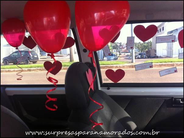surpresa criativa e romântica