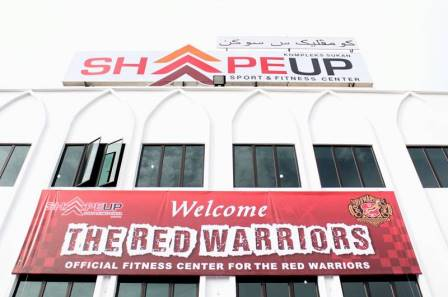 shape up, gym rasmi red warriors, fitness center, gym pengkalan chepa, gym kelantan