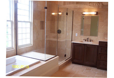 Beautiful Master Bathrooms Pinterest Chiseled Edge Travertine Custom Master Bath Picture 2016