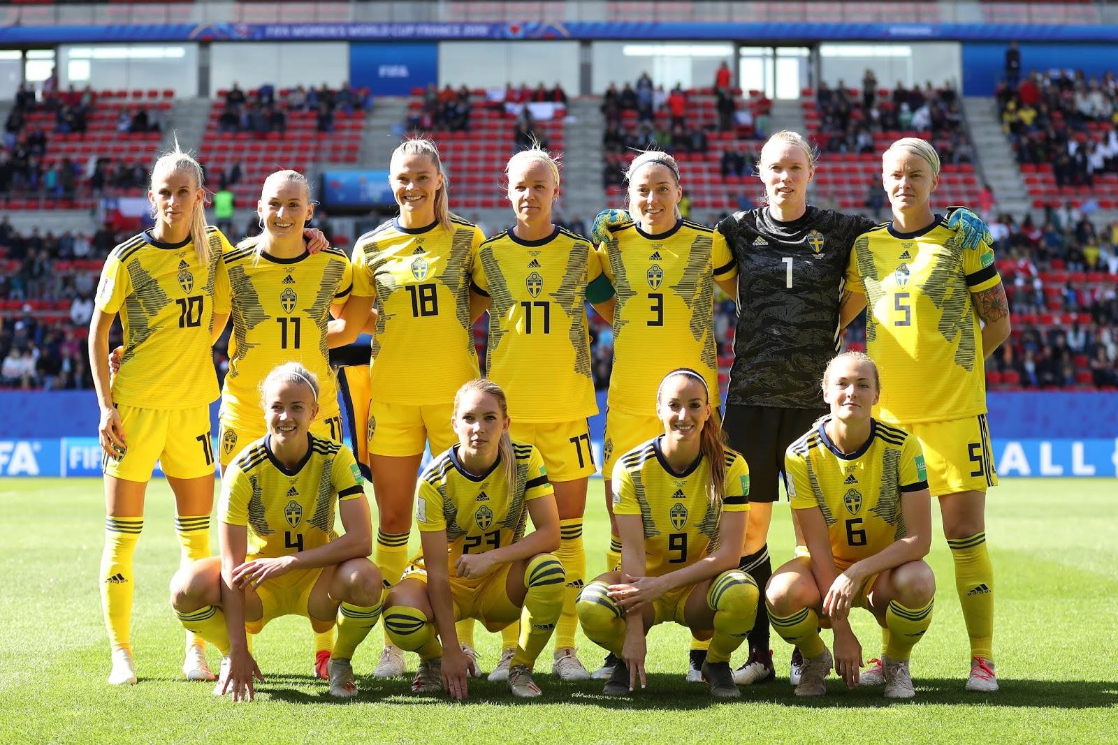 Formación de selección de Suecia ante Chile, Copa Mundial Femenina de Fútbol Francia 2019, 11 de junio