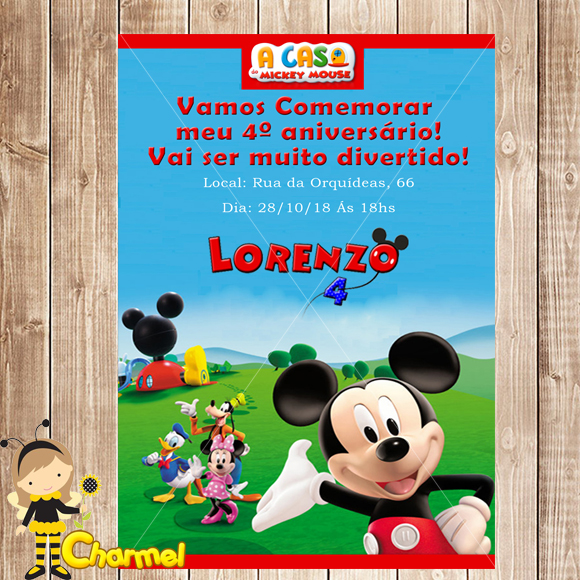 Charmel  Convite digital A casa do mickey 9c6e25337fa28