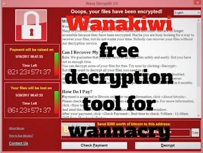 wanakiwi a decryption tool for wannacry