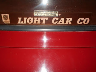 Light Car Co rear window sticker