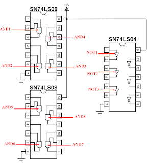 SN74LS08 and SN74LS04 circuit