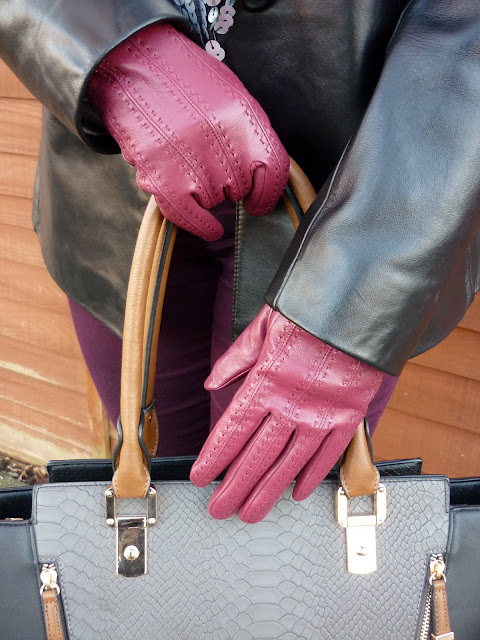 Precis Petite Leather Jacket, New Look Tote, Tu Gloves | Petite Silver Vixen