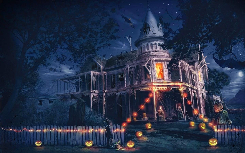 Halloween Home Design Ideas: Halloween Scary Horror Nights Scarecrow Pumpkin Haunted